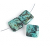 Turquoise African 12x5mm Puff Square Green